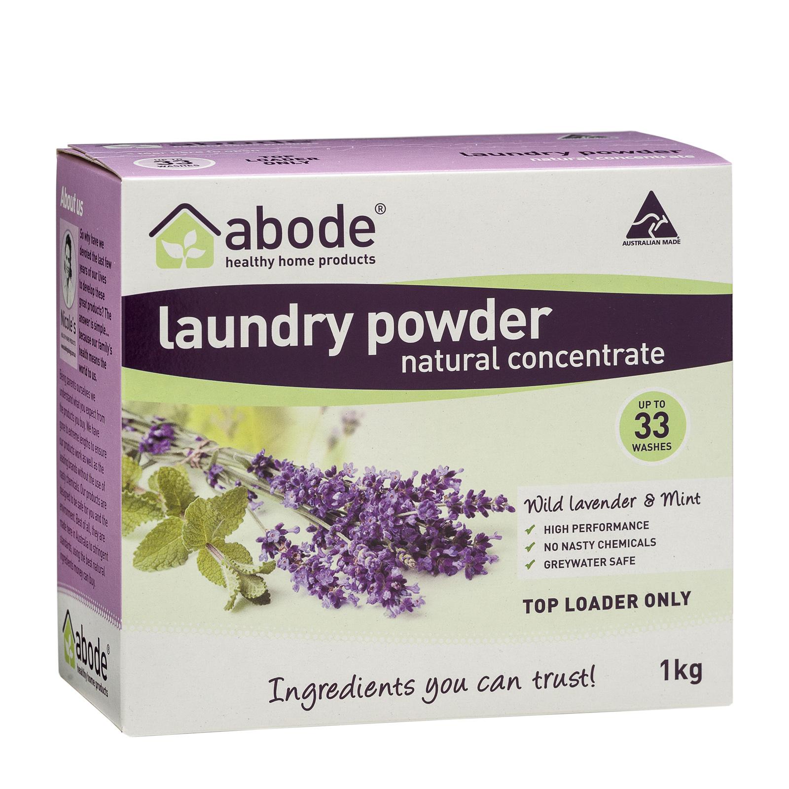 Abode Lavender & Mint Top Loader Laundry Powder (1kg)