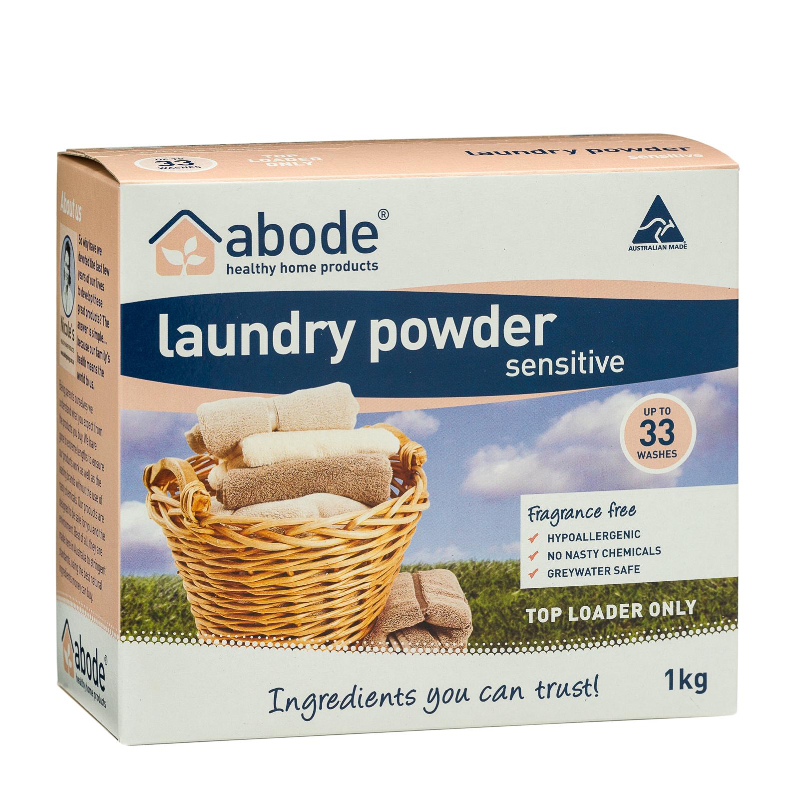 Abode Fragrance Free Top Loader Laundry Powder (1kg)