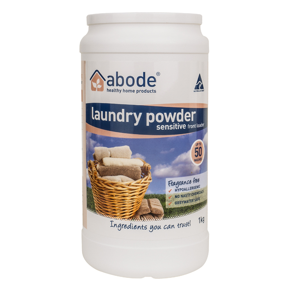 Abode Fragrance Free Front Loader Laundry Powder (1kg)