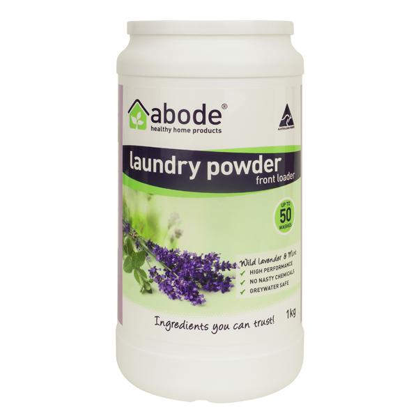 Abode Lavender & Mint Front Loader Laundry Powder (1kg)