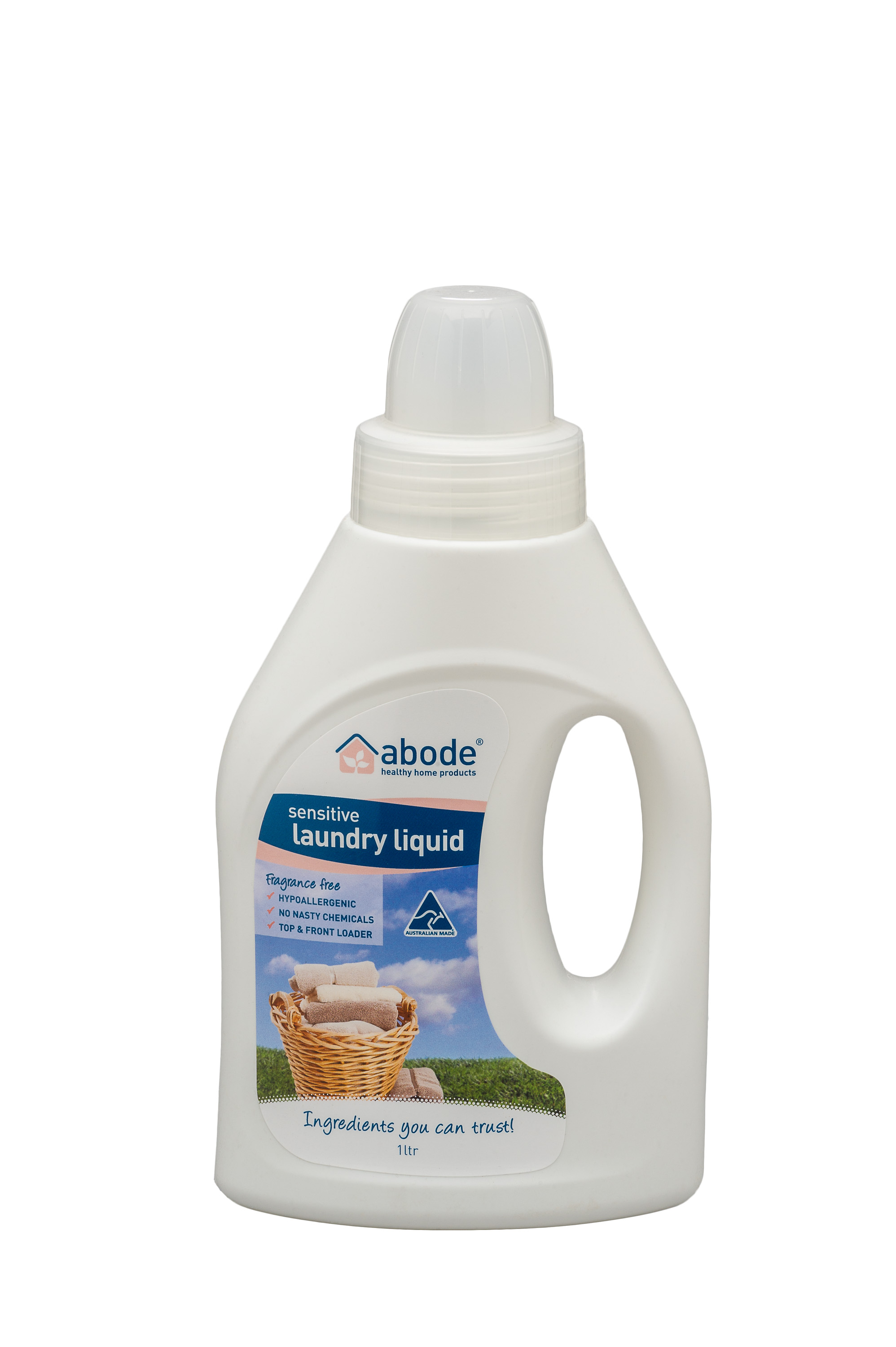 Abode Fragrance Free Laundry Liquid (1litre)